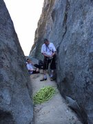 Rock Climbing Photo: Perfect staging area for a great climb.  Like a li...