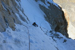 Rock Climbing Photo: We found mostly good firm snow but enough bottomle...