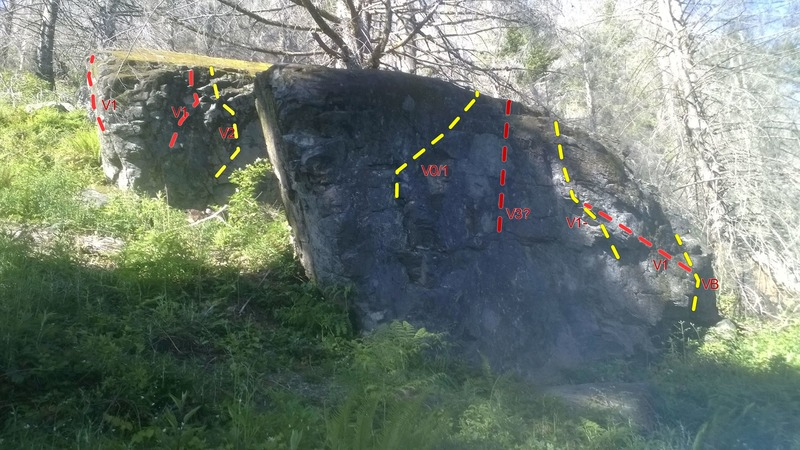 Black Forest boulder in front. You can see part of the Leavenworth boulder in the back.