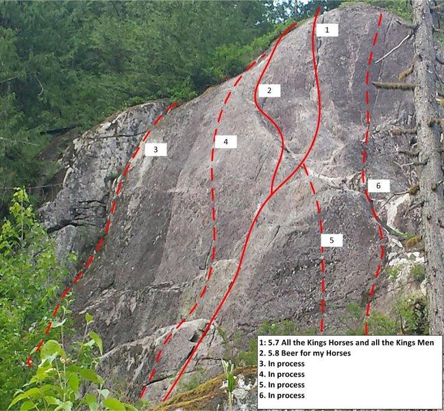 Rock Climbing Photo: Dead Horse Topo