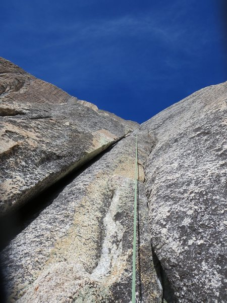Rock Climbing Photo: Double cracks on the second pitch