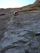 Rock Climbing Photo: Tried starting up the flared groove and quickly de...