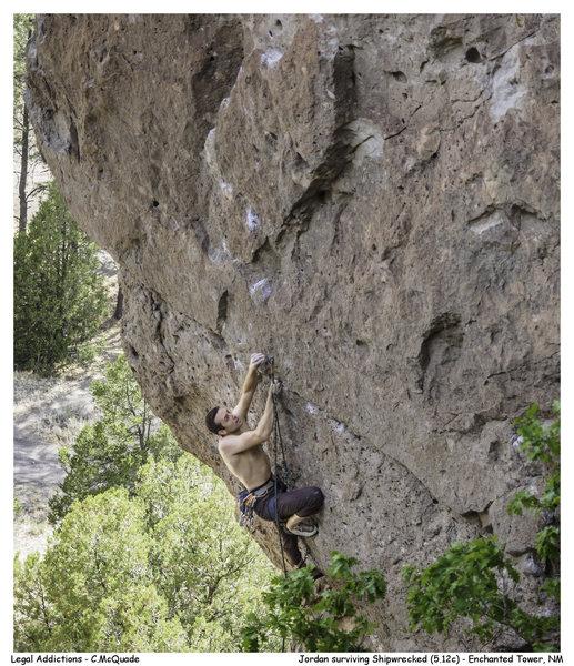 Rock Climbing Photo: Jordan surviving Shipwrecked