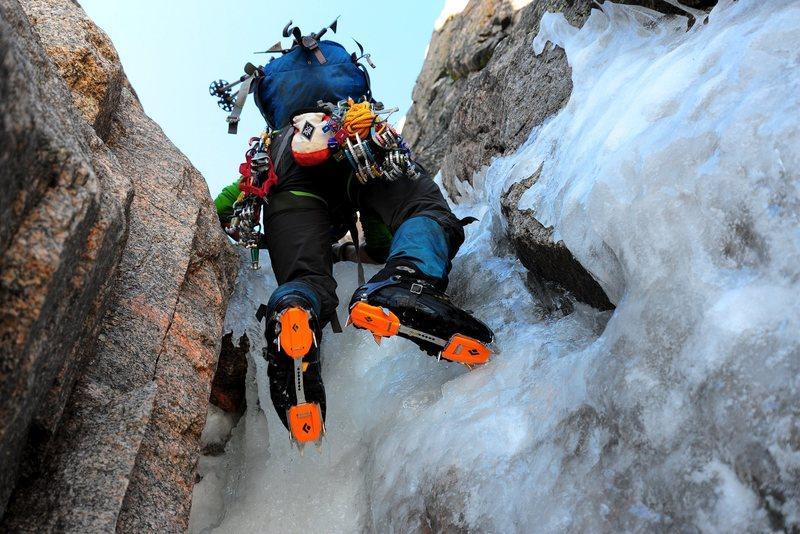"Rock Climbing Photo: Matt ""Sunshine"" Lovas works his way thro..."