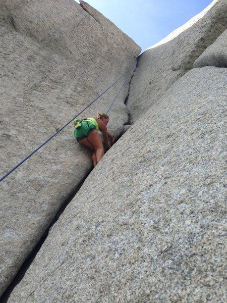 Rock Climbing Photo: Natalie crushing Bongeater.