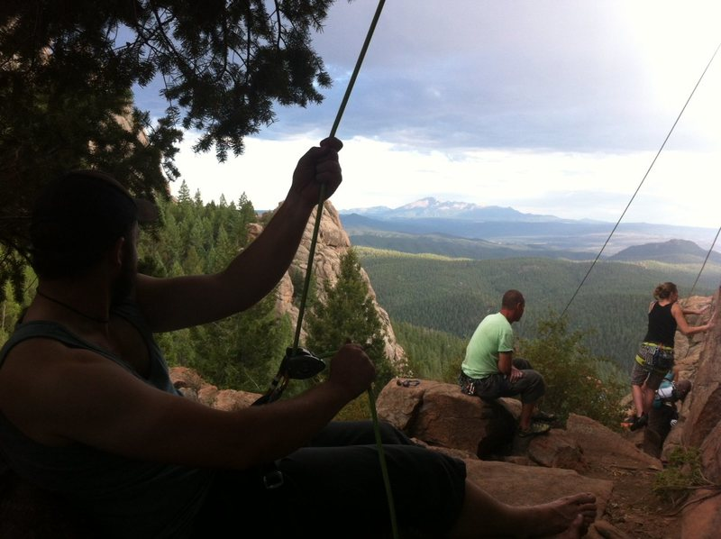 Belaying in Devil's Head
