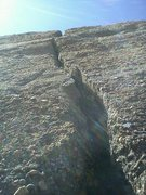 Rock Climbing Photo: Looking up the line. Crabhouse Crack