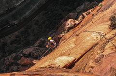 Rock Climbing Photo: jugging up spaceshot