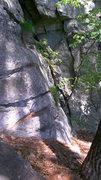 "Rock Climbing Photo: The very bottom of ""Emilietta"", the chim..."