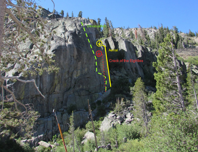 Snowshed Wall - north face, west side.