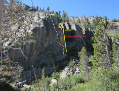 Rock Climbing Photo: Snowshed Wall - north face, west side.