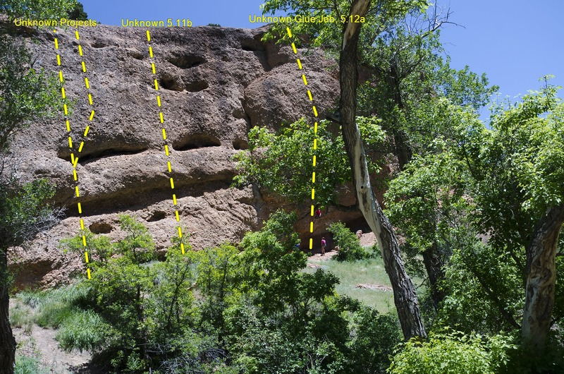 Rock Climbing Photo: Mid Section of the wall, High Planes Drifter is ju...