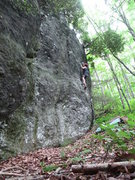 Rock Climbing Photo: Midway up Lindley's Line