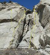Rock Climbing Photo: Topos for Game of thrones crag.