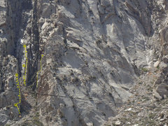 Rock Climbing Photo: A shot of Watchtower 5.9, Sweetie 5.9, and Freesca...
