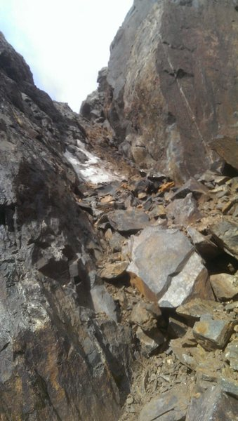 Rock Climbing Photo: The exit pitch of Canary.  Currently gross.