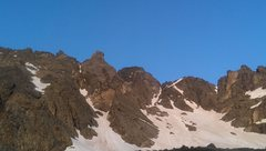 Rock Climbing Photo: Quandary, east of the North Gully/Quandary Couloir...