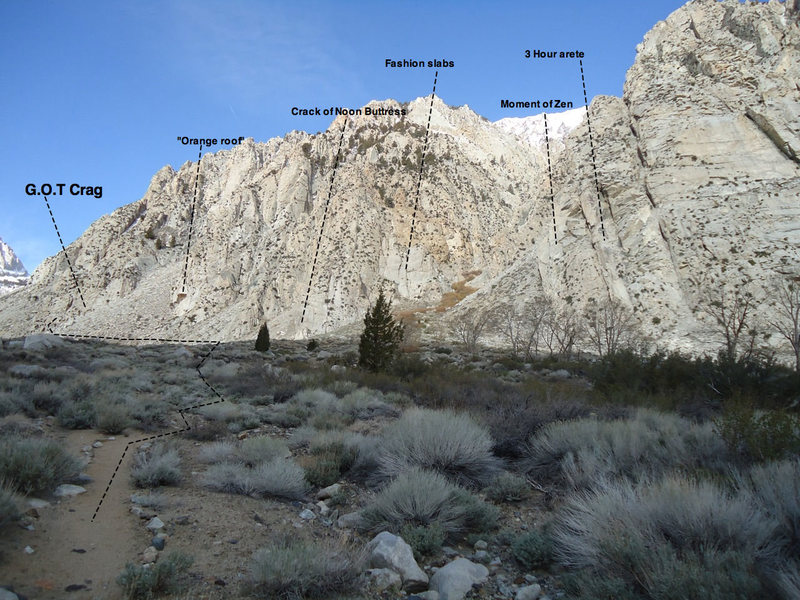 Rock Climbing Photo: Map of Lamb Canyon area