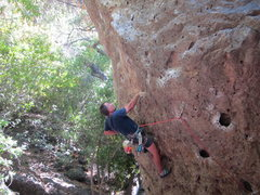 Rock Climbing Photo: Matt O. Chalking up and cruizing the crux.