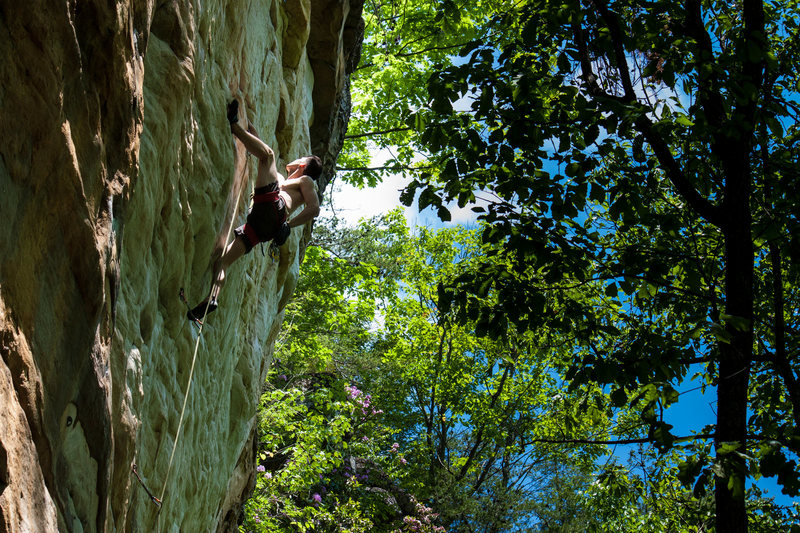 Rock Climbing Photo: Christian reflecting (literally!) on the perfect s...