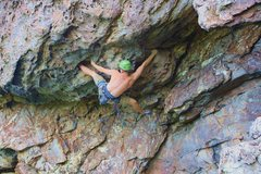 Rock Climbing Photo: The Fortress  Gumbies Go Home (5.10) trad  Crowder...