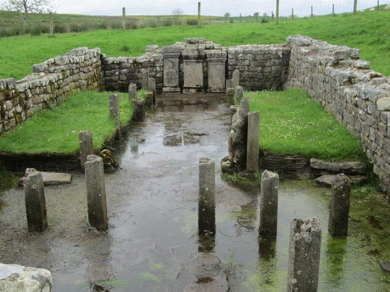 The Roman Temple of Mithras (Sun God). Roman Wall. Northumberland