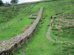 Rock Climbing Photo: Part of the Roman Wall...121 AD Nothumberland. Thi...