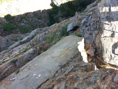 Rock Climbing Photo: The view when going right once you leave the cave ...