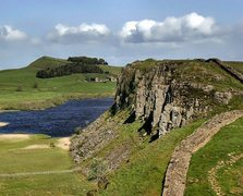 Rock Climbing Photo: Part of Crag Lough and the Roman Wall,Northumberla...