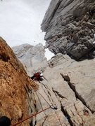 Rock Climbing Photo: Peter Pribik  following P3 of the Harding Route 5....
