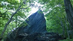 Rock Climbing Photo: start standing on the boulder in the foreground an...