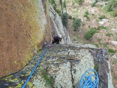 Rock Climbing Photo: First pitch of Vertigo