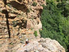 Rock Climbing Photo: Maria Pangan on Addis Ababa, 2nd pitch