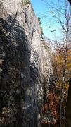 Rock Climbing Photo: Looking down the wall