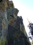 Rock Climbing Photo: First pitch of Handcracker Direct.