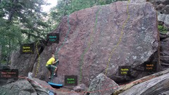 Rock Climbing Photo: Sputnik Boulder:   Sputnik Left, V1-. Sputnik 1, V...