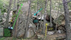 Rock Climbing Photo: Docking Port on left of two 10 ft tall boulders be...