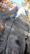 Rock Climbing Photo: Shows the bottom of the route
