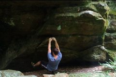 Rock Climbing Photo: Starting Position for Spider Monkey