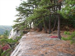 Rock Climbing Photo: This is what the top of the Slab looked like befor...