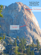 Rock Climbing Photo: Here is my best estimate of the route we followed....