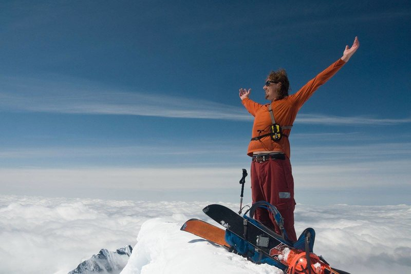 Standing on top of Eldorado Peak in the North Cascades