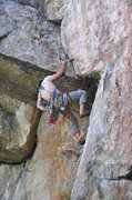 Rock Climbing Photo: Placing gear at the crux ... fun climb!