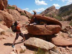 "Rock Climbing Photo: Playing around en route to ""Ottos Route""..."