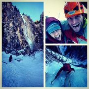 Rock Climbing Photo: Ames Ice Hose with Jenny. January 2014