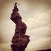 Rock Climbing Photo: Jenny on Ancient Art, May 2014