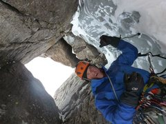 Rock Climbing Photo: Trask B. - Psyched as always on Alexandar's Chimne...