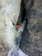 Rock Climbing Photo: Taking an afternoon lap on Choppo's Chimney, Ouray...