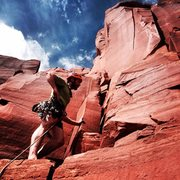 Rock Climbing Photo: Patrick @ the base of the South Face of South Six ...