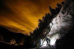 Rock Climbing Photo: Apres-Work Ice Climbing. February 2014